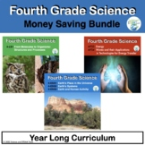 Fourth Grade Science NGSS Units for the Year in Pdf and TpT Easel Ready