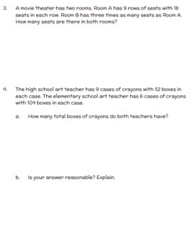 Engage NY Fourth Grade New York State Math Module 3 Assessment