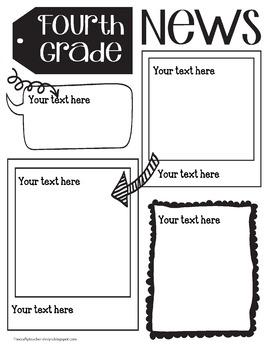 4th grade newsletter templates teaching resources teachers pay