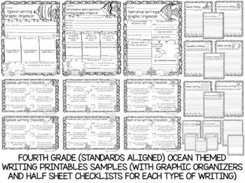 Fourth Grade No Prep Language, Reading, Writing, and Math Work Bundle