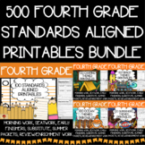 Fourth Grade No Prep Language, Reading, Writing, and Math Work Bundle