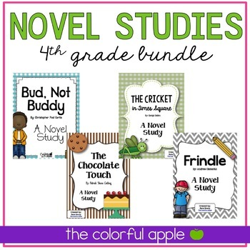 Fourth Grade Novel Studies Bundle