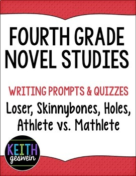 4th Grade Novel Studies Bundle:  Loser, Skinnybones, Holes, Athlete vs. Mathlete
