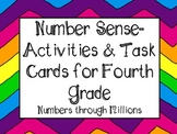 Fourth Grade Number Sense Task Cards and Activities