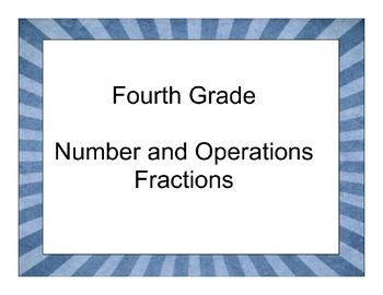 Fourth Grade Number and Operations-Fractions