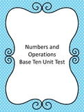Fourth Grade Number and Operations in Base Ten Assessment (Common Core Aligned)