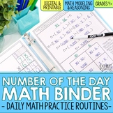 Fourth Grade Number of the Day Binder - Daily Math Practic