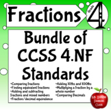 Fractions Fourth Grade Numbers and Operations Math Center Activities Bundle 4.NF