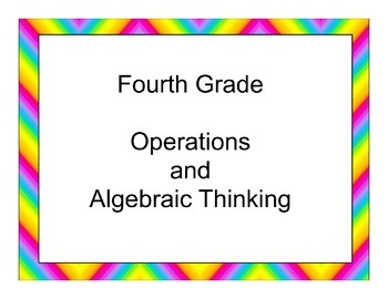 Fourth Grade Operations and Algebraic Thinking