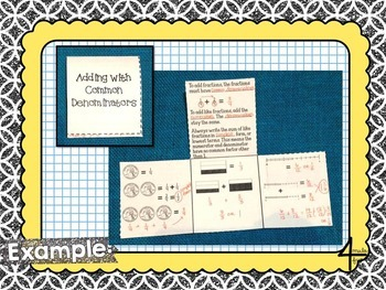 Fourth Grade Math Operations with Fractions Interactive Notebook
