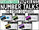 Fourth Grade PAPERLESS NUMBER TALKS- The First 10 Weeks