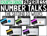 Fourth Grade PAPERLESS NUMBER TALKS- The Second 10 Weeks