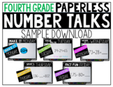 Fourth Grade PAPERLESS Number Talk Sample Week