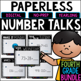 Fourth Grade PAPERLESS Number Talks- A YEARLONG BUNDLE