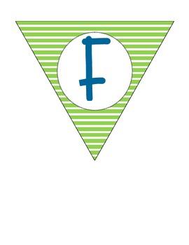 Fourth Grade Pennant Banner