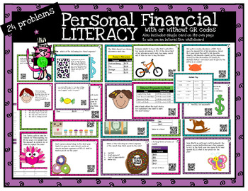 Fourth Grade Personal Financial Literacy Teks 4.10 with or