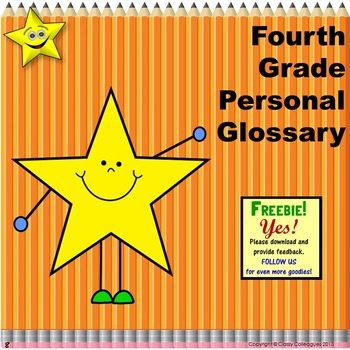 Fourth Grade Personal Glossary