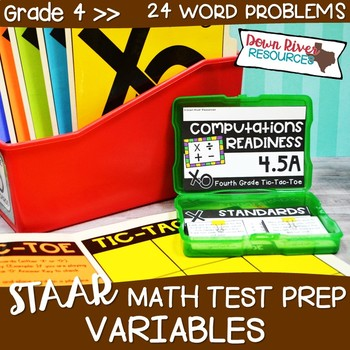 Fourth Grade Problems with Variables Math Test Prep Review Game   4th Grade TEKS