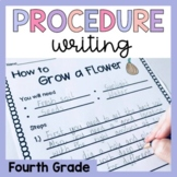 Fourth Grade Procedure Writing Prompts and Worksheets