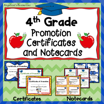End of the Year Awards: 4th Grade Promotion Certificates a