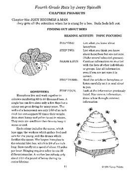 Fourth Grade Rats Literature Guide