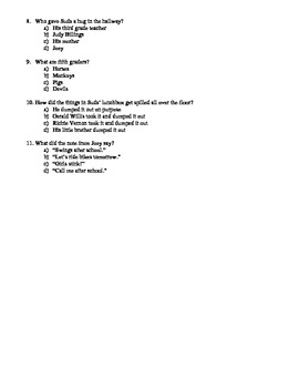 Fourth Grade Rats Reading Check Questions