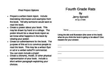 Fourth grade rats teaching resources teachers pay teachers fourth grade rats literature unit fourth grade rats literature unit fandeluxe Gallery