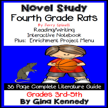 Fourth Grade Rats Novel Study & Enrichment Project Menu