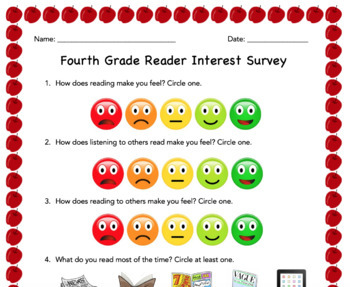 Fourth Grade Reader Interest Survey
