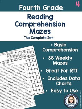 Fourth Grade Reading Comprehension Mazes Complete Set