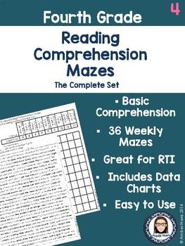 Fourth Grade Reading Comprehension Mazes Complete Set