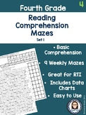 Fourth Grade Reading Comprehension Mazes Set 1