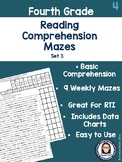 Fourth Grade Reading Comprehension Mazes Set 3