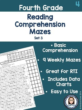 Fourth Grade Reading Comprehension Mazes Set 3