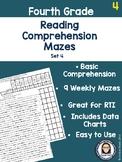 Fourth Grade Reading Comprehension Mazes Set 4