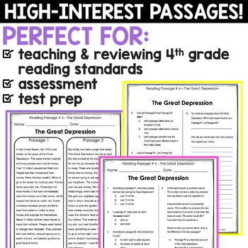 Fourth Grade Reading Comprehension Passages {Nonfiction ...