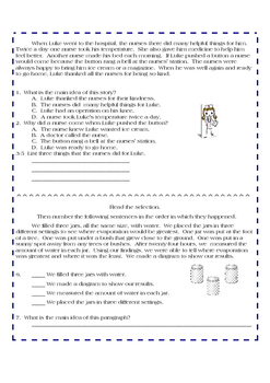 Fourth Grade Reading Comprehension and Skills Assessment