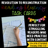 Social Studies Nonfiction Reading Fluency & Comprehension Task Card bundle