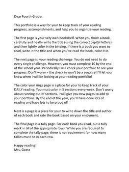 Reading Portfolio - Reading Logs Reimagined!