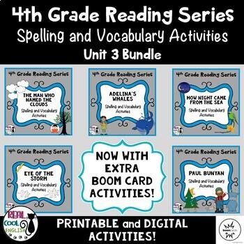 4th Grade Reading Street Spelling & Vocab Unit 3 Bundle (printable AND digital!)