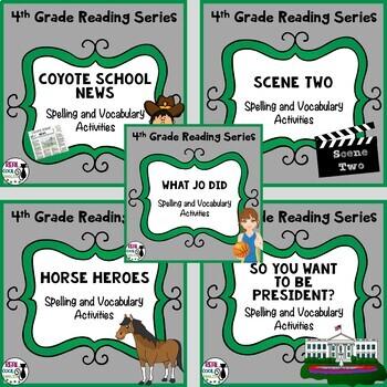 4th Grade Reading Street Spelling & Vocab  (Unit 2 Bundle - Printable Only)