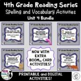 4th Grade Reading Street Spelling & Vocab (Unit 4 Bundle - Printable & Digital)