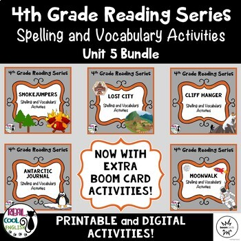 4th Grade Reading Street Spelling & Vocab Unit 5 Bundle (printable ...