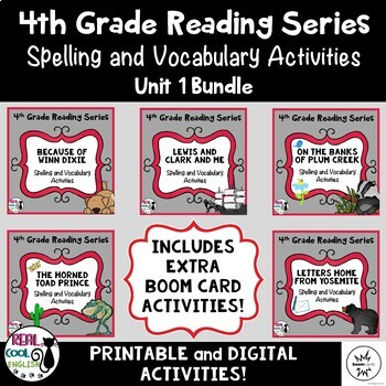 Fourth Grade Reading Street Spelling and Vocabulary Activities (Unit 1 Bundle)