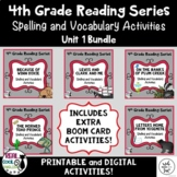 4th Grade Reading Street Spelling & Vocab Unit 1 bundle |
