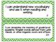 Fourth Grade Reading TEKS ~ Green Chevron