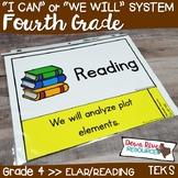 Fourth Grade Reading TEKS I Can Statements {ELAR Standards}