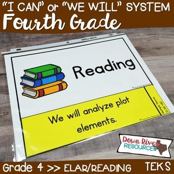 Fourth Grade Reading Teks I Can Statements Worksheets