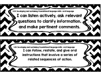 "Fourth Grade Reading TEKS - ""I can..."" Statement Cards"