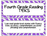 Fourth Grade Reading TEKS~ Purple Zebra
